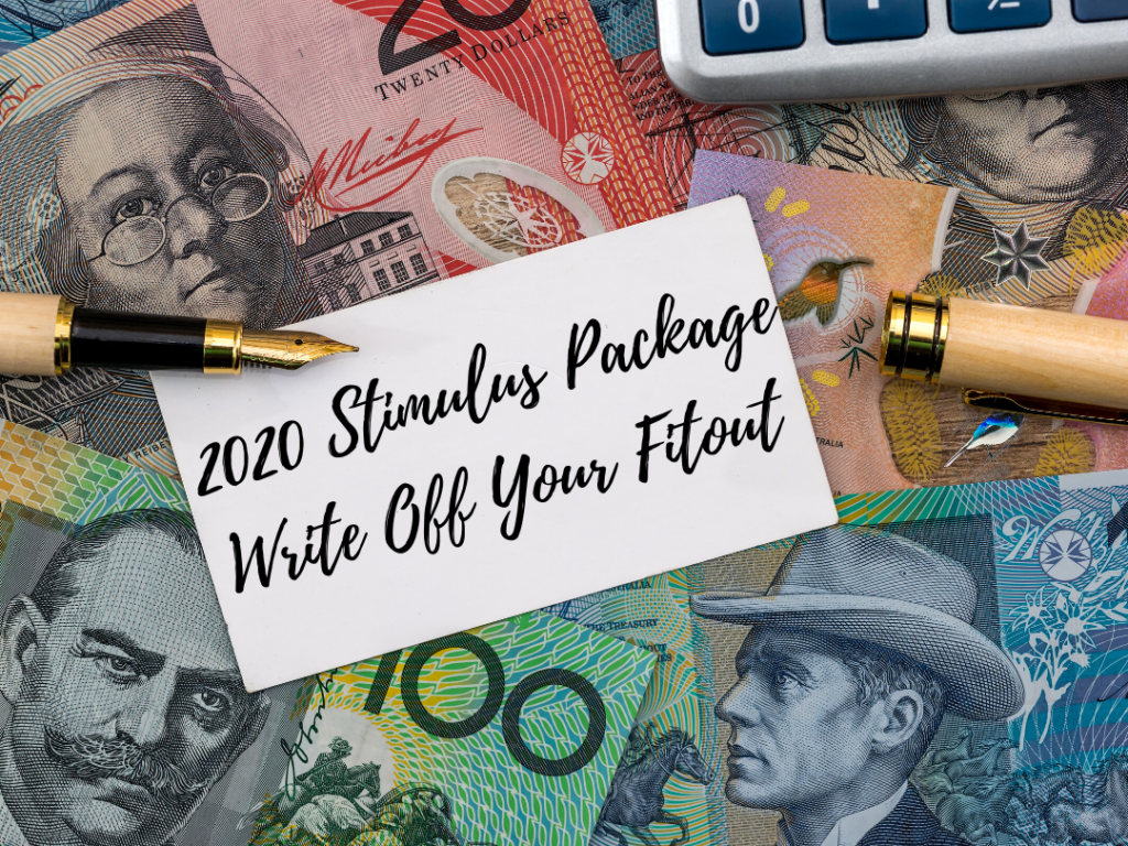 2020 stimulus package banner for Future Fitouts.
