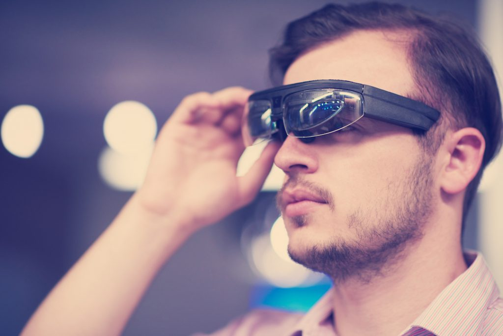 man with vr goggles | technology in the workplace