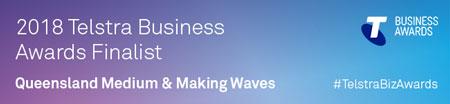 2018 Telstra Business Awards Finalist Logo