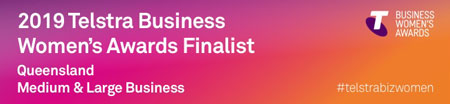 2019 Telstra Business Women's Awards Finalist Logo
