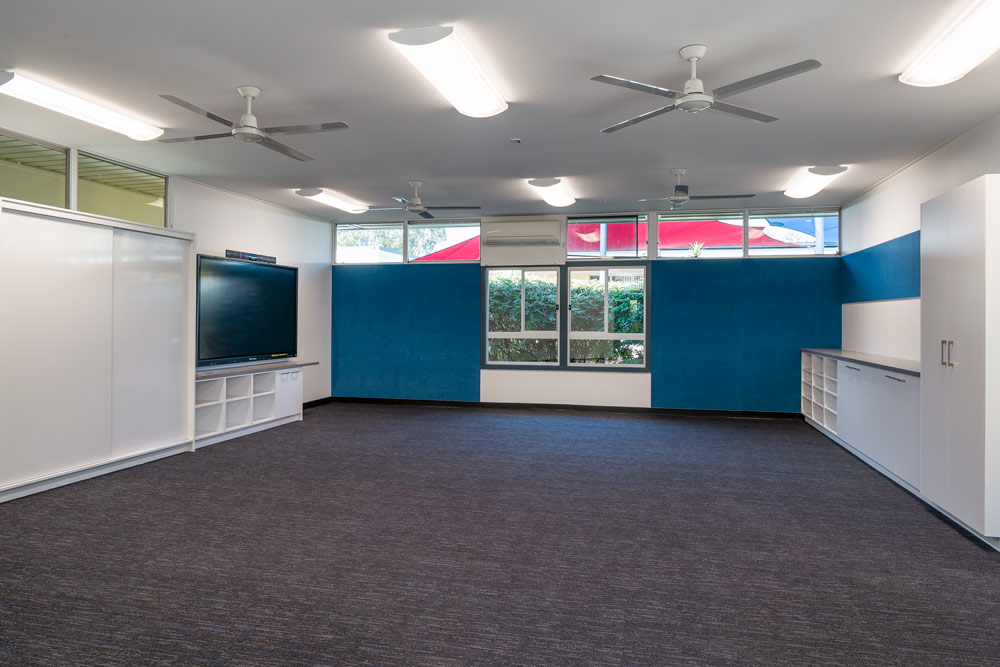 Albany Creek School Fitout amenities room wide view.