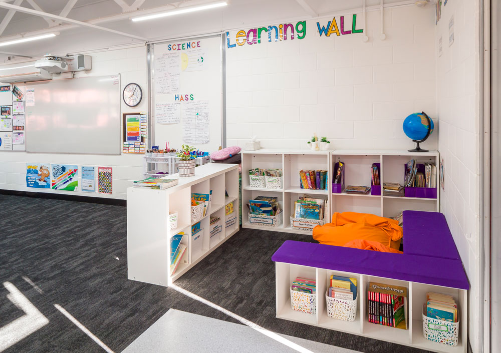 Yugumbir State School classroom reading nook.