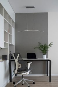 Office with ergonomic chair